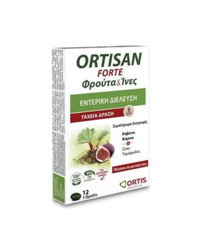 SARANTIS Ortis Ortisan Forte Συμπλήρωμα διατροφής για τη Δυσκοιλιότητα, 12 δισκία