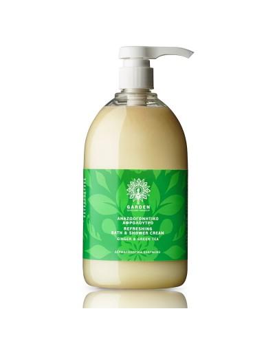 GARDEN OF PANTHENOLS Refreshing Body Bath&Shower Cream Ginger&Green Tea Κρεμοντους, 1000ml
