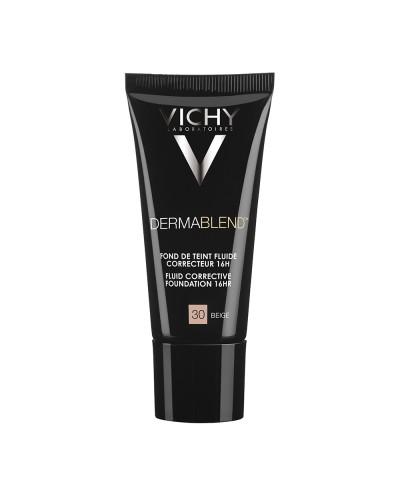 VICHY Dermablend Fluid Make-up SPF35 Διορθωτικό Ματ Λεπτόρρευστο Make-up 30 Beige, 30ml