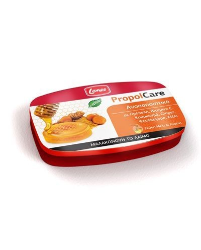 LANES PropolCare Pastilles Honey/Lemon Kαραμέλες μέλι & λεμόνι, 54g