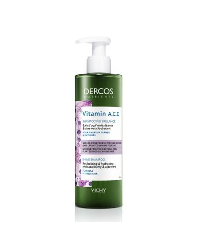 VICHY - Dercos Nutrients Vitamin A.C.E. Σαμπουάν για Τόνωση & Λάμψη, για Θαμπά Μαλλιά - 250ML