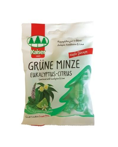 KAISER Eukalyptus Grune Minze & Citrus Καραμέλες με Ευκάλυπτο, Δυόσμο & Κίτρο, 60g