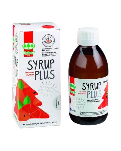 KAISER Syrup Plus Σιρόπι για το Ερεθισμένο Λαιμό με Γεύση Πορτοκάλι, 200ml
