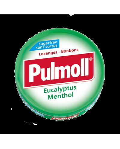 PARAPHARM Pulmoll Eucalyptus Menthol Παστίλιες Λαιμού με Ευκάλυπτο & Μέντα, 45g