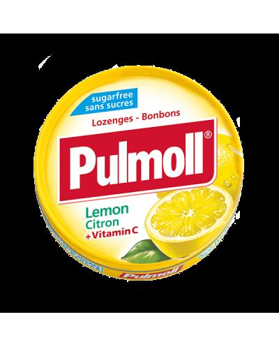 PARAPHARM Pulmoll Lemon Παστίλιες Λαιμού με Λεμόνι & Βιταμίνη C, 45g