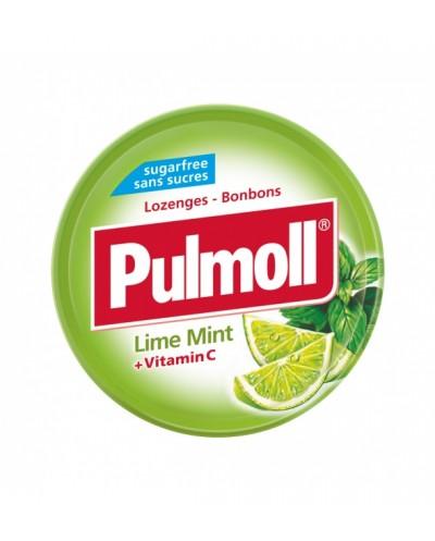 PARAPHARM Pulmoll Lime Mint Παστίλιες Λαιμού με Γλυκολέμονο, Μέντα & Βιταμίνη C, 45g