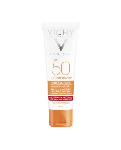 VICHY Capital Soleil Anti-Ageing SPF50 Αντηλιακή Κατά των ρυτίδων 3 σε 1, 50ml