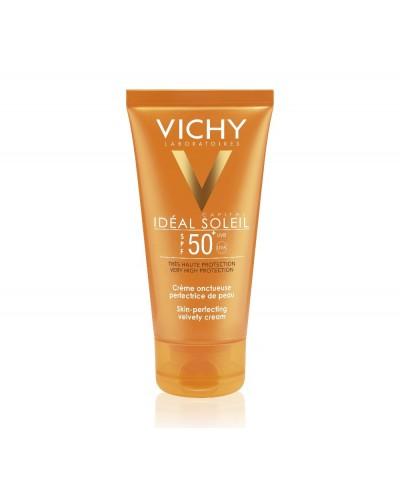 VICHY Ideal Soleil Velvety Cream SPF50+ Βελούδινη Αντηλιακή Προσώπου (Κανονικές/Ξηρές Επιδερμίδες), 50ml
