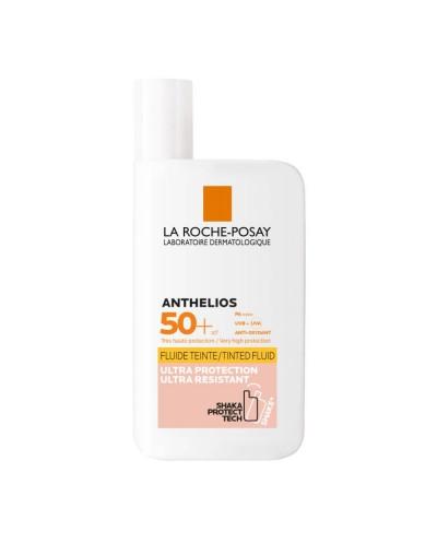 LA ROCHE POSAY - ANTHELIOS Invisible Tinted Shaka Fluid SPF50+ Αόρατη Ανθεκτική Αντηλιακή με Χρώμα & Λεπτόρρευστη υφή - 50ml