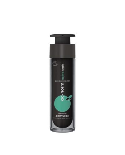 FREZYDERM AcNorm Active Wash Τζελ Καθαρισμού για Λιπαρό Δέρμα με Τάση Ακμής, 50ml