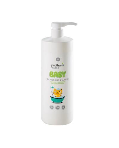 PANTHENOL EXTRA Baby Shower & Shampoo Βρεφικό Σαμπουάν & Αφρόλουτρο, 1lt