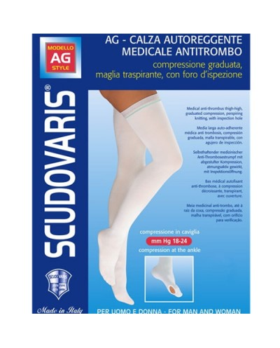 Scudovaris Αντιθρομβωτικές Κάλτσες Ριζομηρίου Κωδ. 426 No. 4 Χρώμα Άσπρο