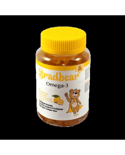 BRADEX Bradbear Omega-3 Ζελεδάκια Ω3 Γεύση Λεμόνι, 60 gummy bears