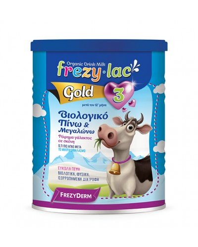 FREZYLAC GOLD 3 Βιολογικό Γάλα σε Σκόνη από 12 μηνών, 400g