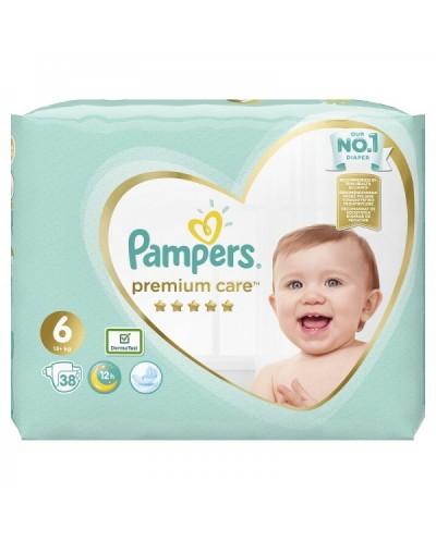 PAMPERS Premium Care Jumbo No. 6 (13+kg) Βρεφικές Πάνες, 38 τεμάχια