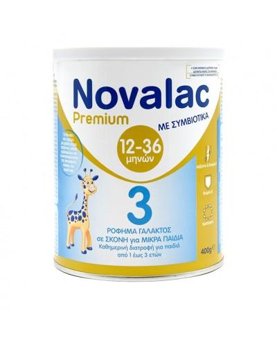 NOVALAC Premium 3 Symbiotic Βρεφικό Γάλα 12-36 Μηνών Με Συμβιοτικά, 400g