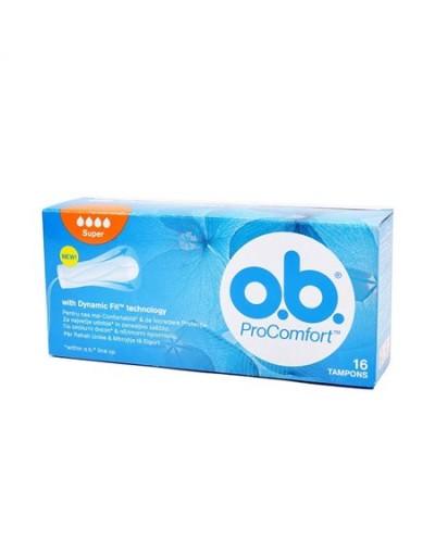 O.B. - ProComfort Super Ταμπόν Μέτριας έως Μεγάλη Ροής, 16 τεμάχια