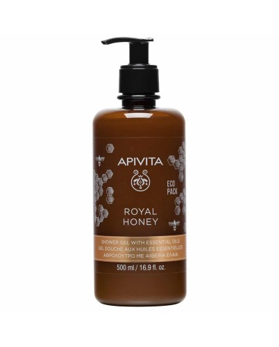 APIVITA EcoPack Royal Honey Κρεμώδες Αφρόλουτρο με ελληνικό θυμαρίσιο μέλι, 500ml