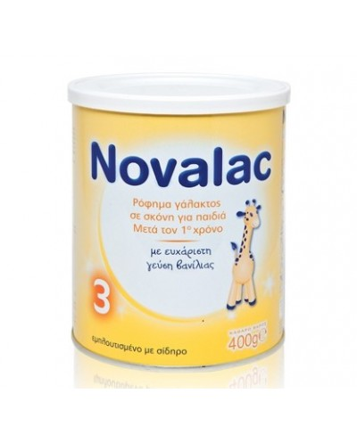 NOVALAC 3 Βρεφικό Γάλα 12-36 Μηνών, 400g