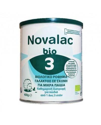 NOVALAC Bio 3 Βιολογικό Βρεφικό Γάλα 12-36 Μηνών, 400g
