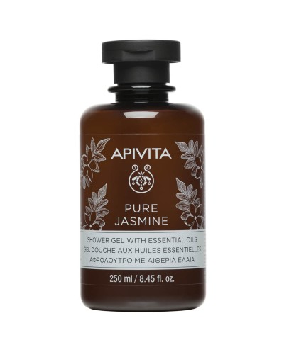 APIVITA Pure Jasmine Aφρόλουτρο με Aιθέρια Έλαια & Γιασεμί, 250ml