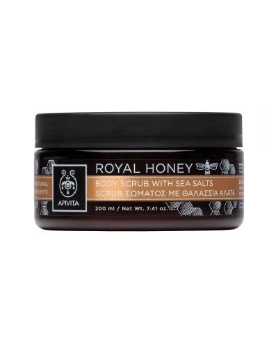 APIVITA Royal Honey Body Scrub Απολέπιση Σώματος με Θαλάσσια Άλατα & Μέλι, 200ml