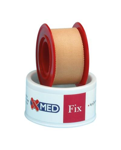 X-MED Ρολό Fix - Υφασμάτινη στηρικτική ταινία 5m x 2,5cm ΚΑΦΕ ΧΡΩΜΑ