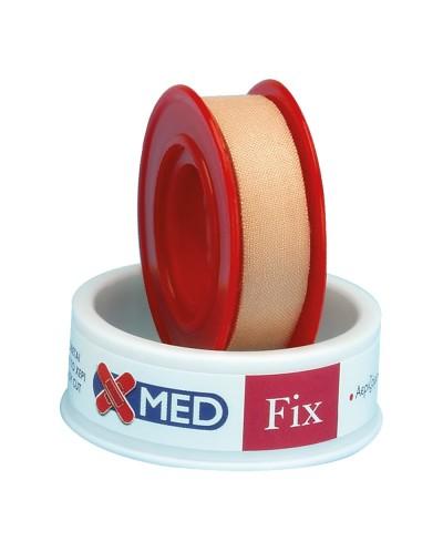 X-MED Ρολό Fix - Υφασμάτινη στηρικτική ταινία 5m x 1,25cm ΚΑΦΕ ΧΡΩΜΑ