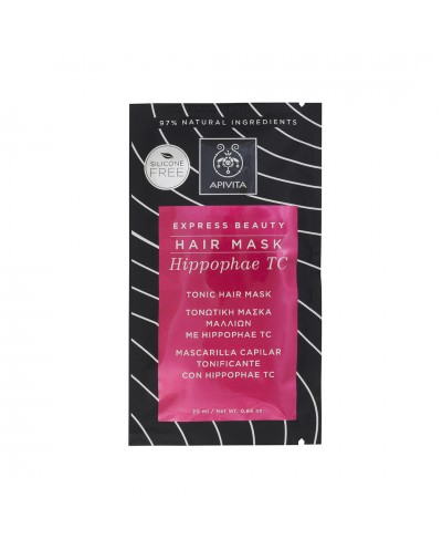 APIVITA EXPRESS BEAUTY Hair Mask Hippophae TC Τονωτική Μάσκα Μαλλιών με Ιπποφαές, 20ml