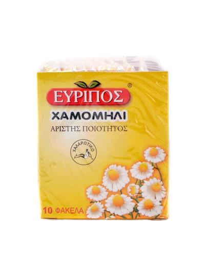 ΕΥΡΙΠΟΣ Χαμομήλι, 10 εμβαπτιζόμενα φακελάκια