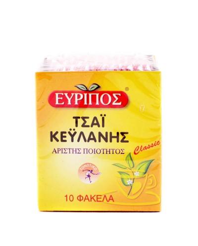 ΕΥΡΙΠΟΣ Τσάι Κεϋλάνης, 10 εμβαπτιζόμενα φακελάκια