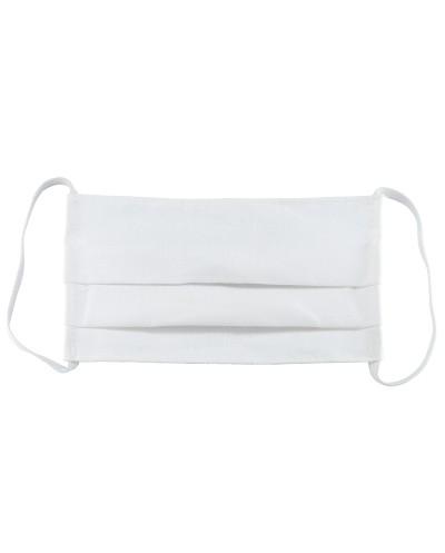 Μάσκα Υφασμάτινη Πολλαπλών Χρήσεων Άσπρη 100% Βαμβάκι, Unisex, Ελληνικό Προϊόν, 1 τεμάχιο