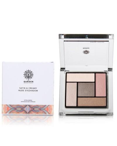 GARDEN OF PANTHENOLS Satin & Creamy Nude Eyeshadow Palette 01 Παλέτα Σκιών, 6g