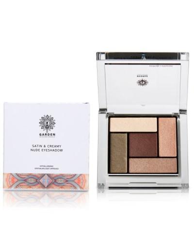 GARDEN OF PANTHENOLS Satin & Creamy Nude Eyeshadow Palette 03 Παλέτα Σκιών, 6g