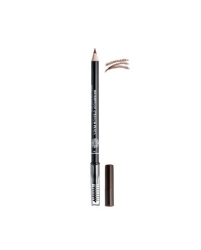 GARDEN OF PANTHENOLS Waterproof Eyebrow Pencil 41 Warm Brown Μολύβι Φρυδιών με Βουρτσάκι, 1g
