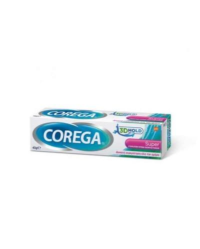GSK CoregaSuper Στερεωτική Κρέμα Οδοντοστοιχιών με Γεύση Μέντα, 40g