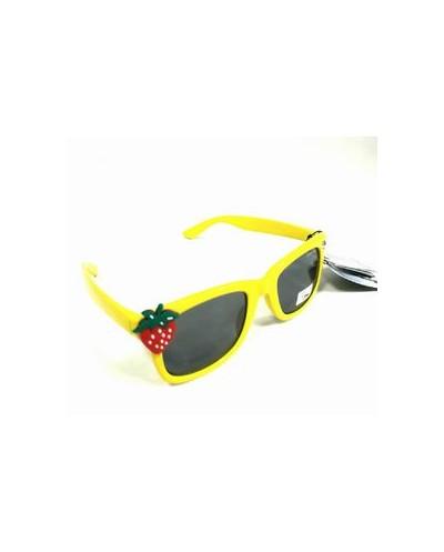 DAZZLE JUNIOR Παιδικά Γυαλιά Ηλίου Κίτρινα με Σχέδιο Φράουλα & Θήκη, 1 τεμάχιο