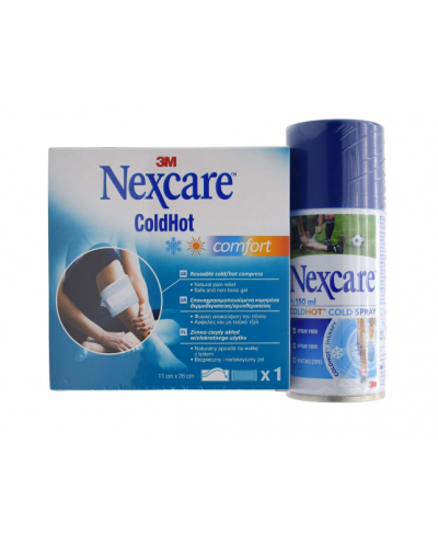 3M Nexcare ColdHot Comfort Κομπρέσα & ΔΩΡΟ ColdHot Cold Σπρέι Πάγου, 150ml