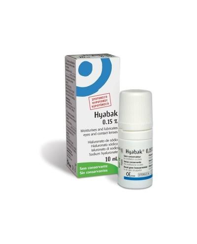 THEA Hyabak 0,15% Οφθαλμικές Σταγόνες με Υαλουρονικό Νάτριο, 10ml