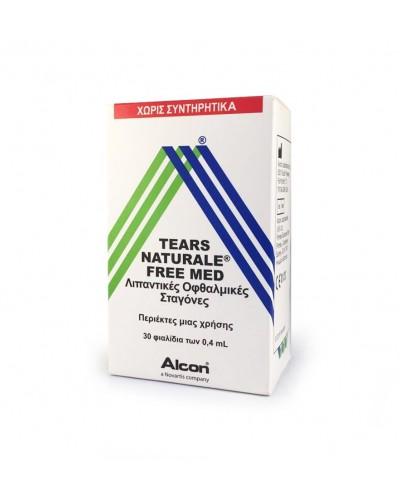 ALCON Tears Naturale Free MED Λιπαντικές Οφθαλμικές Σταγόνες, 0.4ml x 30 φιαλίδια μιας χρήσης