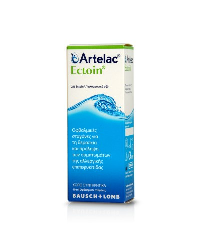 BAUSCH & LOMB Artelac Ectoin Οφθαλμικές Σταγόνες για Αλλεργική Επιπεφυκίτιδα, 10ml