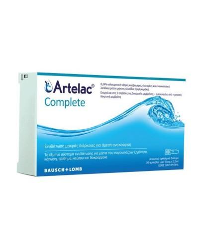 BAUSCH & LOMB Artelac Complete Λιπαντικό Οφθαλμικό Διάλυμα σε Μονοδόσεις, 30x0.5ml