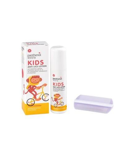 Panthenol Extra Kids Anti-Lice Lotion Παιδική Αντιφθειρική Λοσιόν & ΔΩΡΟ Χτενάκι, 125 ml