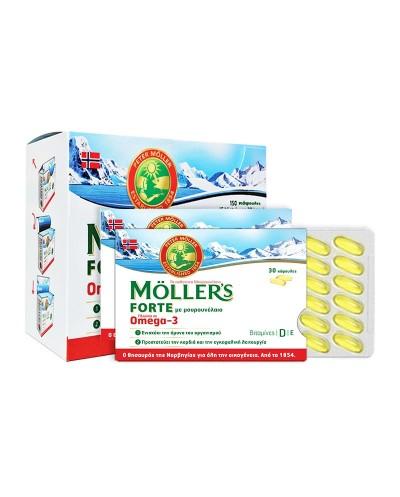 MOLLER'S Forte Ωμέγα 3, 150 Κάψουλες (5x30)