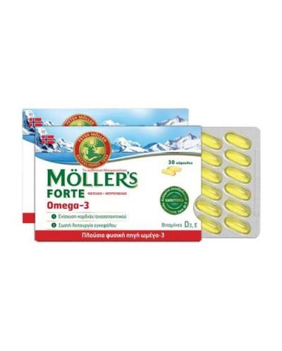 MOLLER'S Forte Ωμέγα 3 & Βιταμίνη D3, 30 Κάψουλες