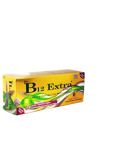 MEDICHROM Bio B12 Extra 1000μg Methylcobalamin Βιταμίνη Β12, 30 διασπειρόμενα δισκία