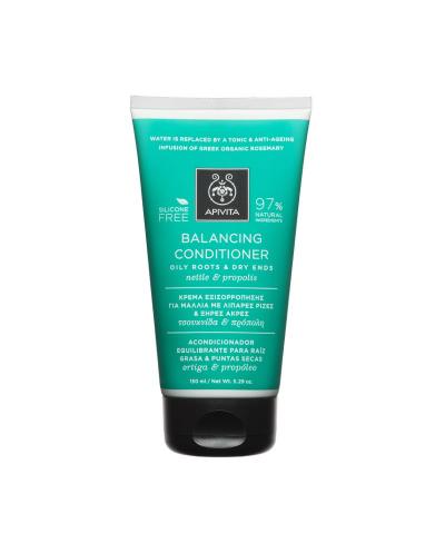 APIVITA Κρέμα Εξισορρόπησης για Μαλλιά με Λιπαρές Ρίζες & Ξηρές Άκρες, 150ml