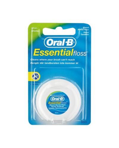 Oral-B Essential Floss Οδοντικό Νήμα Κηρωμένο 50m