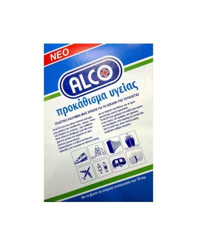 ALCO Πλαστικό Κάλυμμα μιας χρήσης για τη λεκάνη της τουαλέτας, 10 τεμάχια