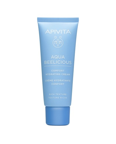 APIVITA Aqua Beelicious Comfort Απαλή Κρέμα Ενυδάτωσης Πλούσιας Υφής με Λουλούδια & Μέλι, 40ml